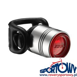 Lampka tylna LEZYNE LED FEMTO DRIVE 7 L, srebrna