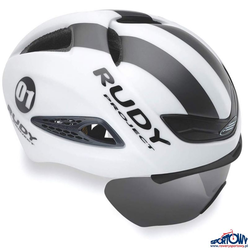 KASK RUDY PROJECT BOOST 01WHI/GRAPH(MATTE) Z SZYBĄ