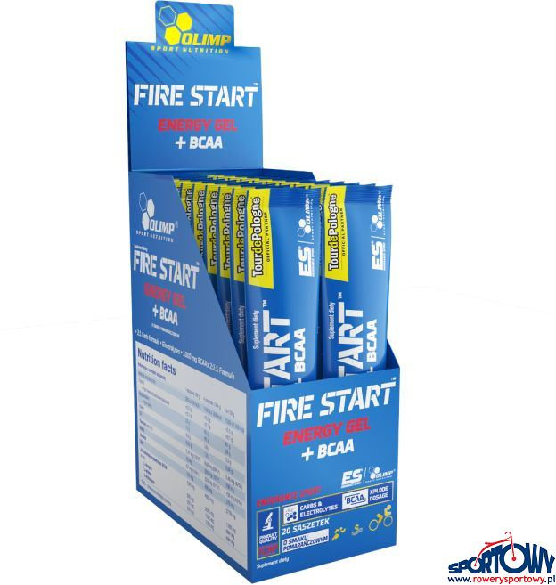FIRE START ENERGY GEL+BCAA 36g POMARAŃ. STICK TDP